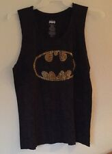 Ladies JNRs Batman Glitter Tank Top XLarge 15-17 DC Comics  Batgirl Movie
