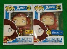 X-Men Dark Phoenix Hot Topic/Wal-Mart Exclusive Funko Pop #413/422 + Rock Candy
