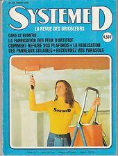 Magazine Système D N°354 juillet 1975 bricolage feux d'artifice pédalo ...