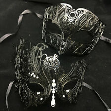 Charming Metal Couple Lover Masquerade Mask Party Mask Men & Women Mask- Black
