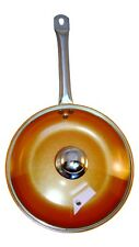 Copper Frying Pan 10.5 inch With Glass Lid Ceramic Coating Non Stick Induction