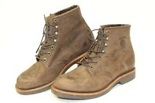"""Chippewa Mens 9.5 D Leather 6"""" Rugged USA Handcrafted Work Boots 20065 hg"""