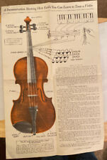 """Copyright 1938 """"Learn To Tune A Violin� Paper Instruction"""