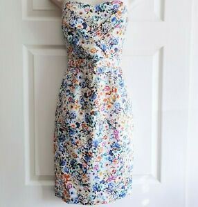 Brand New Oasis Dress Size 10 UK / 36 EU Floral Structured Strapless Bridesmaid
