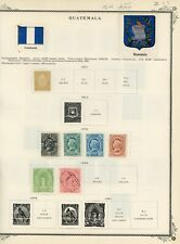 19th Century Guatemala on Scott Pages - 54 different stamps