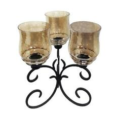 CANDLE HOLDER METAL & GLASS ~CANDLE HOLDER ~ HURRICANE CANDLE HOLDER~ HOME DECOR