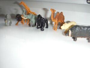 Plastic toy zoo animal bundle