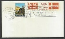 GB 1971 Postal Strike SPECIAL COURIER MAIL cover to Iceland