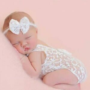 Newborn Cute Baby Girls Lace Romper Costume Photo Photography Prop Outfits