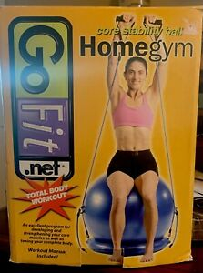 Go Fit Homegym Core Stability Ball,NEW IN BOX, Dual Action Hand air pump,Manual