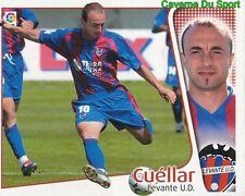 CUELLAR ESPANA LEVANTE.UD CROMO STICKER LIGA ESTE 2005 PANINI