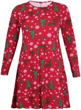 Maglie e camicie da donna rossi viscosi elasticizzati