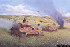 Armour Military Art Print battle Kursk Operation Zitadelle German panther tamks