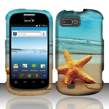 For Sprint ZTE Fury Rubberized HARD Protector Case Snap on Phone Cover Starfish