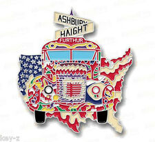 Magic Bus Furthur Haight Ashbury Grateful Dead Merry Pranksters Kesey Hat Pin