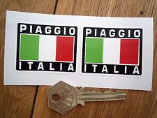 PIAGGIO ITALIA Tricolore Style Stickers 50mm Pair Scooter Helmet Mod Vespa Moped
