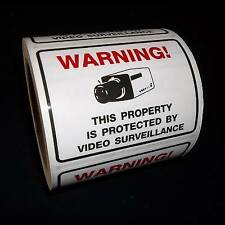 LOT YOU'RE ON VIDEO SECURITY SURVEILLANCE CAMERAS IN USE WARNING DECAL STICKERS