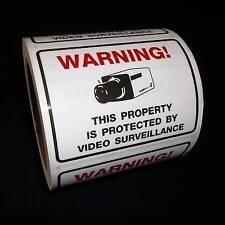 LOT SECURITY SURVEILLANCE CAMERA WARNING STICKERS **USA SELLER**