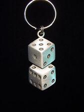 """""""JJ"""" Jonette Jewelry Silver Pewter 'LUCKY 7' Dice Key Chain"""