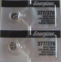 2 PCs Energizer 377 376 Watch Battery SR626SW SR626W