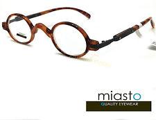 ~ LOT OF 2 ~  MIASTO RETRO MINI SMALL OVAL ROUND READER READING GLASSES+1.50