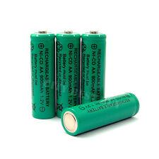 4 x AA 900mAh NiCd Ni-Cd Rechargeable Battery KR6 GREEN