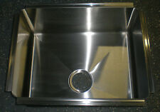 """sink 18""""x 23""""x 9"""", undermount, overflow and 3.5"""" waste,  heavy,  stainless, 1035"""