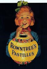 Vintage Rowntrees Pastilles Advert Jack o Lantern   Poster Print