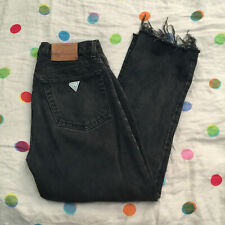Vintage Women's High Rise High Waist Gray Black Guess Jeans Size 31