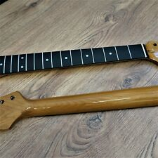 Roasted Maple Stratocaster Guitar Neck with Blackwood Board