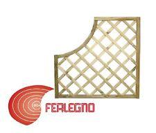 PANNELLO GRIGLIATO SAGOMATO DI PINO IMPREGNATO DIM.90X90CM GIARDINO ART.92285