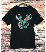 Neff x Disney Mickey Mouse T Shirt Tee Mens Medium Black Tropical Streetwear NEW