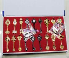 Cosplay Fairy Tail Lcuy Celestial Spirit Gate Keys set 18pcs  aaaa:01