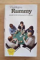 Vintage Waddingtons Rummy Classic Family Card Game 2 Pks Cards Guide - Complete