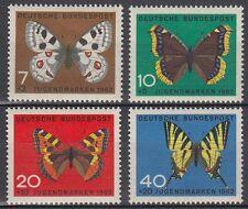 BUTTERFLIES**PAPILLONS-VLINDERS-4 vals-Germany-1962-MARIPOSAS-FARFALLE