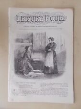 ANTIQUE VICTORIAN THE LEISURE HOUR MAGAZINE PAPER No 1190 OCTOBER 17th 1874