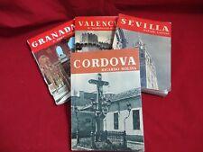 4 alte  Reiseführer,Spanien(Sevilla Granada,Cordova,Valencia) ca.1957/58