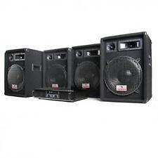 "DISCO SEMI-PRO DJ PA 4x SPEAKERS 12"" BASS DRIVER BRIDGEABLE 2000W AMPLIFIER SET"