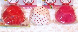 HELLO KITTY Valentine Cupcake Toppers & matching baking cups by Wilton: Pink/Red