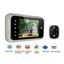 """3.5"""" LCD Digital Peephole Viewer 120 Degrees Doorbell Door Eye IR Camera Video"""