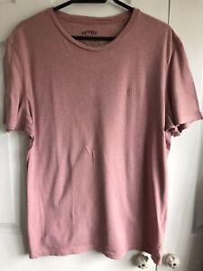 🌈 Fat Face Dusky Pink Washed Vintage Style T-Shirt Size L