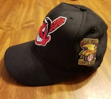 2001 Cleveland Indians Game Used Chief Wahoo hat w/100 Seasons Patch size 7 1/8