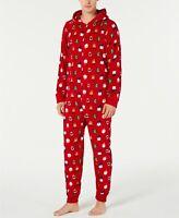 $39  Family Pajamas Matching Men's Santa and Friends Hooded, Medium