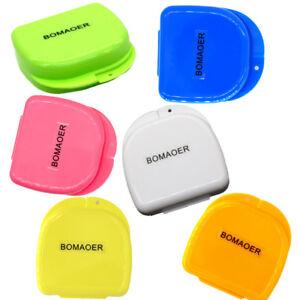 AU Dental Orthodontic Retainer Denture Storage Case Box Mouthguard Container