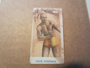 1910 AMERICAN CARAMEL CO BOXING CARD JACK JOHNSON