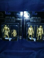 Star Wars Darth Maul Yoda + Obi Wan Anakin Skywalker Gold Commemorative Edition