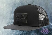 New Billabong All Day Mens Black Trucker Mesh Snapback Cap Hat