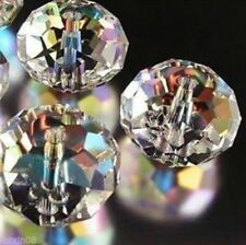 Diy Jewelry Faceted 146pcs 3*4mm Rondelle glass Crystal Beads clear AB