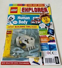 LEGO EXPLORER Magazine NEW! #9 HUMAN BODY WITH COOL LEGO SKULL! (NEW