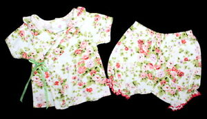 MAD SKY Boutique MAde in USA Kimono Top and Shorts Set Baby Girl Size 9 Months